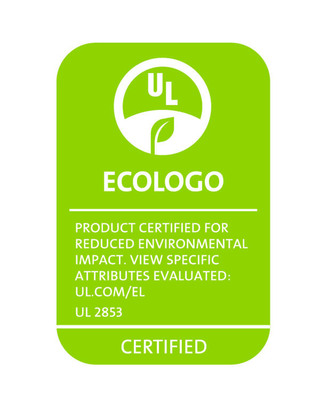 Example of ECOLOGO certification mark for Wi-Fi hotspots certified to UL 2853 standard.  (PRNewsFoto/UL Environment)