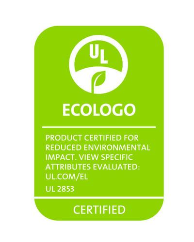 Example of ECOLOGO certification mark for Wi-Fi hotspots certified to UL 2853 standard. (PRNewsFoto/UL ...