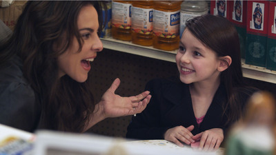"Latin American film and telenovela star Kate del Castillo is Eva O'Riley and Fatima Ptacek (voice of Dora the Explorer) is Amanda Jiminez in ""A Miracle in Spanish Harlem"".  (PRNewsFoto/Digiplex Destinations)"