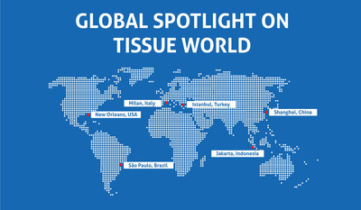 Tissue World events map