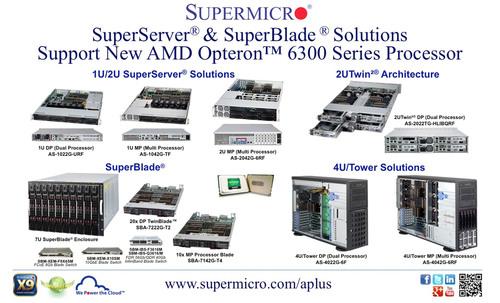 Supermicro® presenta soluciones compatibles con el nuevo procesador AMD Opteron 6300 Series: