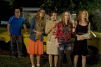 IT COULDN'T GET WORSE . . . COULD IT? In 'MOMS' NIGHT OUT' - a fast-paced, family comedy - four moms and a beleaguered cabbie discover in love, marriage and parenting, it can all go wrong . . . and still turn out right. (From right: Sarah Drew, Abbie Cobb, Patricia Heaton, Andrea Logan White and David Hunt) Photo: Saeed Adyani. (PRNewsFoto/Provident Films, a Sony Music Entertainment company and AFFIRM Films, a Sony Pictures Entertainment company)