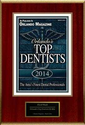 "Ziyad Maali DMD Selected For ""Orlando's Top Dentists Of 2014"" (PRNewsFoto/American Registry)"