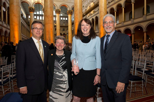 (From Left to Right) Lou Tisler, Executive Director, Neighborhood Housing Services of Greater Cleveland, ...
