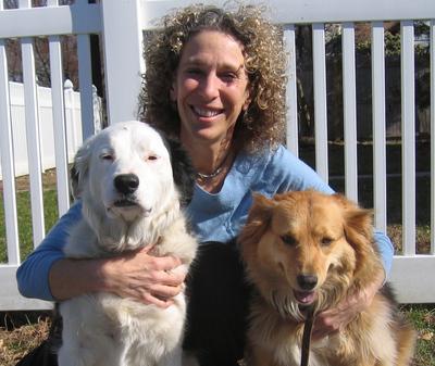 Dr. Fallek with her beloved dogs Destiny and Savannah (PRNewsFoto/Dr. Marcie Fallek)