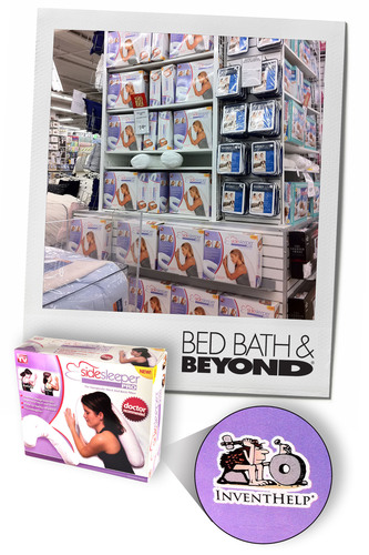 InventHelp® Client's Pillow Now Featured in Bed, Bath & Beyond