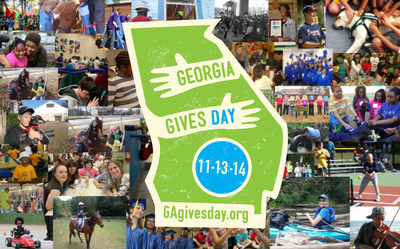 The third annual Georgia Gives Day will take place Nov. 13, 2014. Organizers look to build on $2.5 million raised for Georgia nonprofits in the first two years of event. (PRNewsFoto/Georgia Center for Nonprofits)