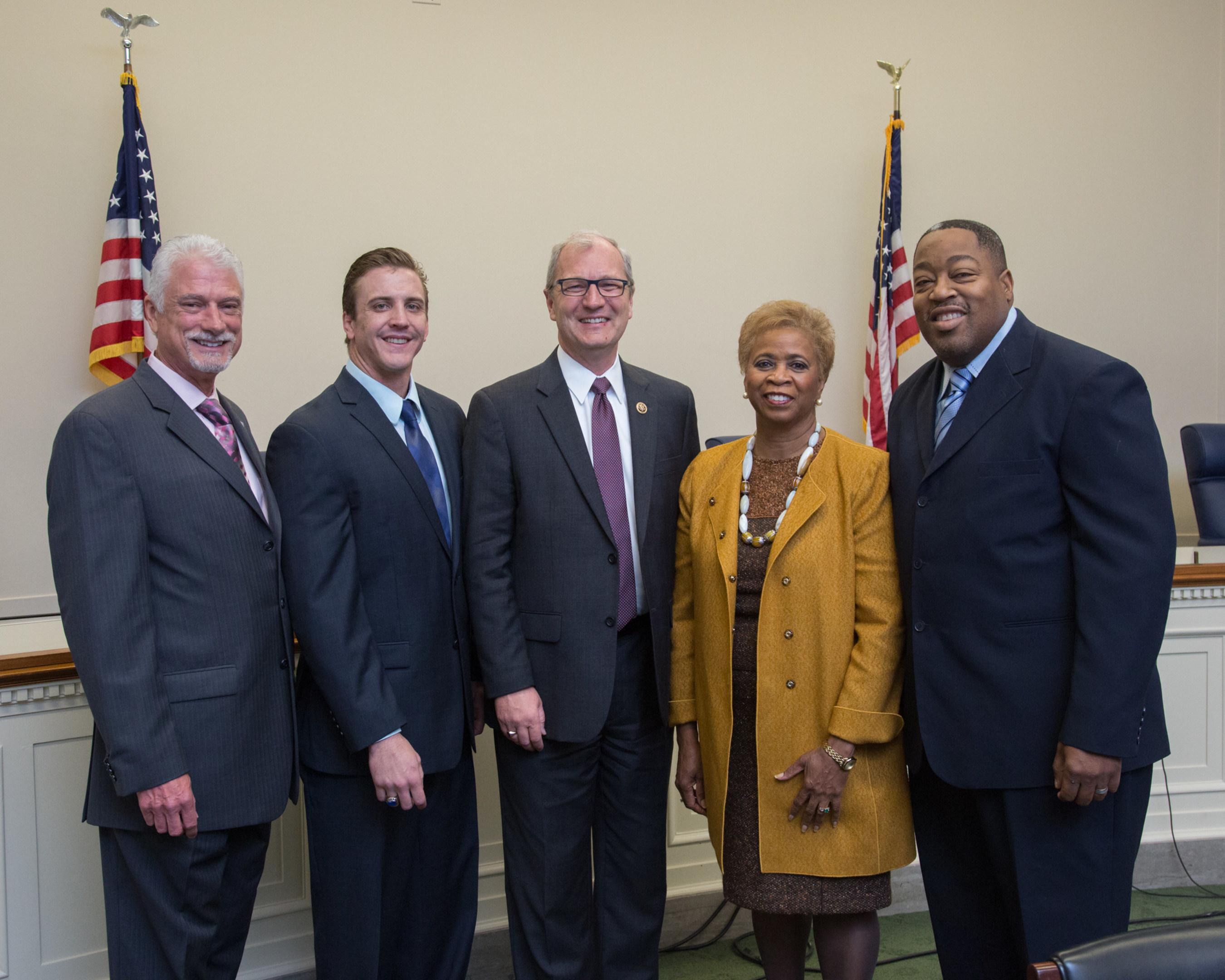 Left to Right: Dana Kuhn, PSI President; Jordan Martin, SC Hemophilia; Advocate Congressman Kevin Cramer (R-ND); Ms. LaVarne Burton, President and CEO of the American Kidney Fund; Mr. Eric Dolby, NC Kidney Fund Advocate