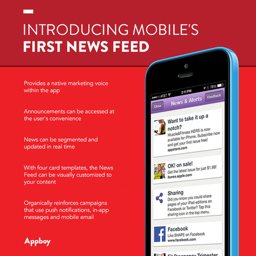 Appboy introduces mobile's first News Feed.  (PRNewsFoto/Appboy)