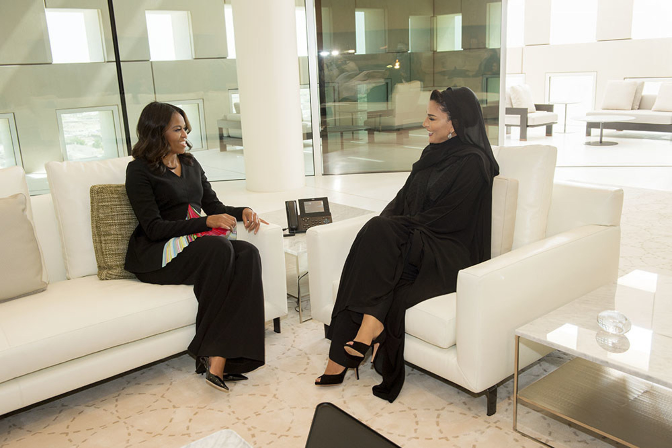 First Lady of the United States Michelle Obama Visits Qatar Foundation