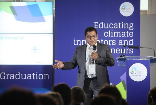 """""""Seeing these young talents dedicate their time to solving today's biggest challenges âeuro"""" instead of contributing to their causes âeuro"""" makes me confident that we are on the right track to make positive impact. This new generation of entrepreneurs is the key ingredient in solving our global challenges,"""" says Ebrahim Mohamed, Director for Education, Climate-KIC, about Climate-KIC's European """"The Journey"""" summer school programme. (PRNewsFoto/Climate-KIC)"""