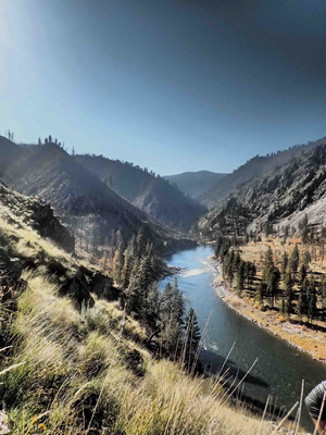 The Wilderness Land Trust's Painter Mine property on the banks of the Salmon River in the Frank Church-River of No Return Wilderness, Idaho.  (PRNewsFoto/The Wilderness Land Trust)