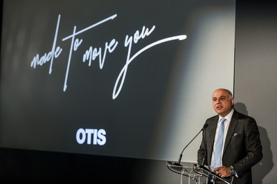 Otis introduces new elevator products, including the connected Gen2(R) Life elevator, alongside new creative platform, Made to Move You, at London event (PRNewsFoto/Otis)