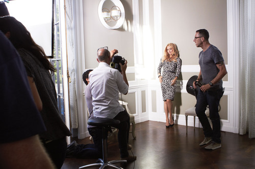 Kate Hudson and famed fashion photographer Tom Munro collaborate for Ann Taylor's Fall 2012 ad campaign ...