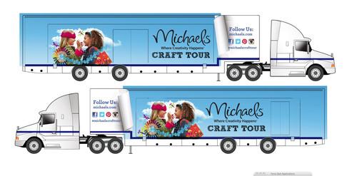 Michaels Craft Truck.  (PRNewsFoto/Michaels Stores, Inc.)