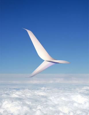 Alaska Airlines' new split winglet has a scimitar-shapped tip reminiscent of a medieval sword. (PRNewsFoto/Alaska Airlines) (PRNewsFoto/ALASKA AIRLINES)
