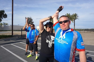 WWP Alumni pose for photos after taking part in a 2015 Soldier Ride event in California.