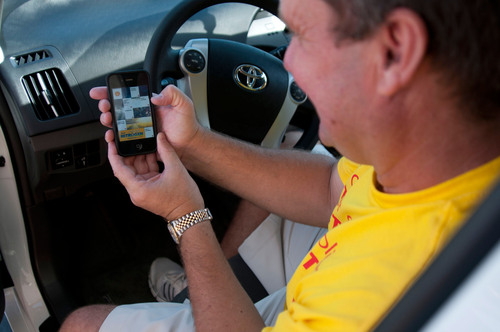Throughout their trip, the Taylors have been using the new Shell Motorist app (available from the App Store), which has shown them the location of the nearest Shell station and provided the best route to their destinations, as well as other helpful information.  (PRNewsFoto/Shell Oil Company)