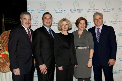 Harold S. Koplewicz, MD (President, Child Mind Institute), Michael P. Milham, MD, PhD, Nora D. Volkow, MD (Director, National Institute on Drug Abuse/2013 Child Mind Institute Distinguished Scientist Award Recipient), NYC Council Speaker Christine Quinn, Michael Fascitelli