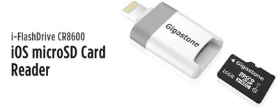 Gigastone iPhone Flash Drive that takes external Micro SD Card Memory