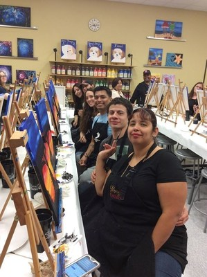 Couples painting was a perfect opportunity for WWP Alumni and their mates to bond in a unique way.