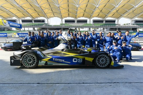Group photo of participants at the MICHELIN Pilot Sport Experience 2015 (PRNewsFoto/Michelin AIM) ...