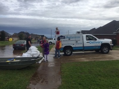 Lowe's volunteers helped communities in Shreveport recover from flooding caused by more than a foot of rain in March.