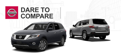 The 2014 Nissan Pathfinder and 2014 Ford Explorer show drivers what is in store for the 2014 model year. (PRNewsFoto/Ingram Park Nissan) (PRNewsFoto/INGRAM PARK NISSAN)