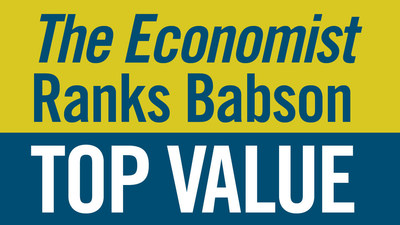 The Economist ranking finds Babson College alumni earnings to be more than $20,000 above the expected average