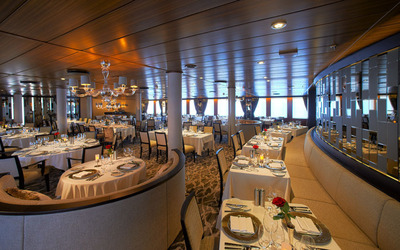 A look at the new restaurant AmphorA that features a casual and elegant dining experience.  (PRNewsFoto/Windstar Cruises)