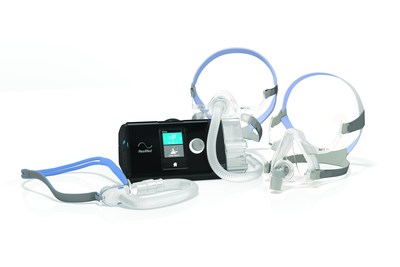 ResMed's new Air Solutions platform is where connected care begins. The Air Solutions platform includes the AirSense 10 Series of flow generators and the AirFit family of masks, pictured here, along with new software solutions for capturing, monitoring, and maximizing patient compliance.