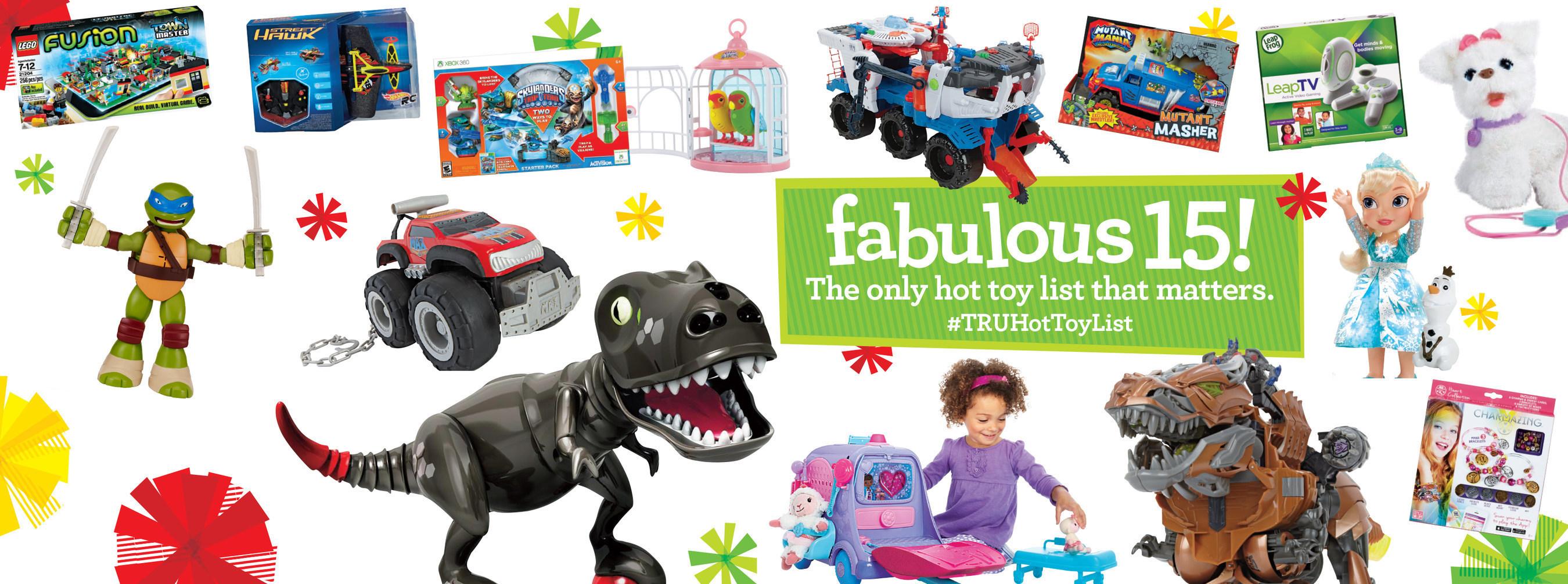 """Toys""""R""""Us(R) Unveils The 2014 #TRUHotToyList (PRNewsFoto/Toys""""R""""Us, Inc.)"""