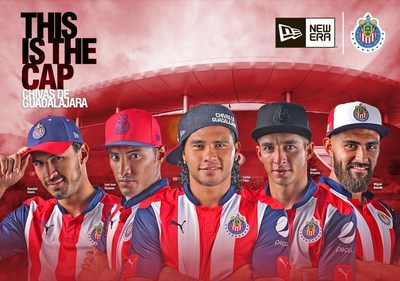 New Era, the world's leading sports and lifestyle headwear brand, announces a partnership with Club Deportivo Guadalajara, the soccer club with the biggest Mexican fan base in the world on August 17, 2016. (Photo Credit: New Era Cap)