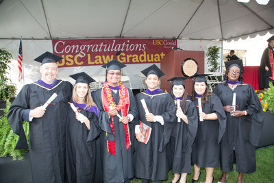 University of Southern California Gould School of Law graduated the first online Master of Laws class at its 2016 commencement. The inaugural graduating class included 20 legal professionals who serve as law partners, professors and business executives from prestigious companies and law firms around the world.