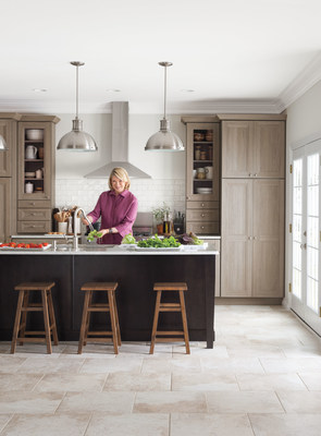 Martha in the new Martha Stewart Living Tipton Textured PureStyle kitchen, available at The Home Depot. (PRNewsFoto/Martha Stewart Living Omnimedia)