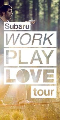 "Subaru ""Work Play Love"" tour celebrates the balance of work and play.  (PRNewsFoto/Subaru of America, Inc.)"