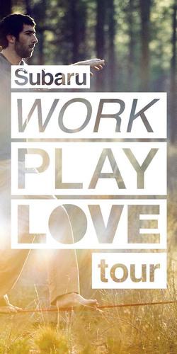"Subaru ""Work Play Love"" tour celebrates the balance of work and play.  (PRNewsFoto/Subaru of America, ..."