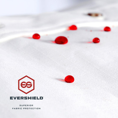 EverShield fabric protection repels oils, food products, mud, concrete, ice and much more.