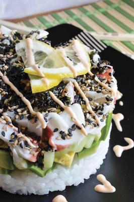 Homemade California Roll Sushi Stacks