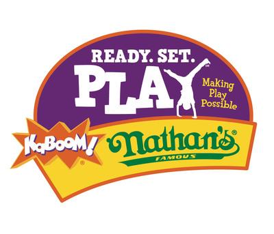 Nathan's Famous & KaBOOM! Ready. Set. PLAY. (PRNewsFoto/Nathan's Famous)