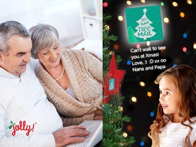 Jolly Christmas Tree Ornament - Tree Mail