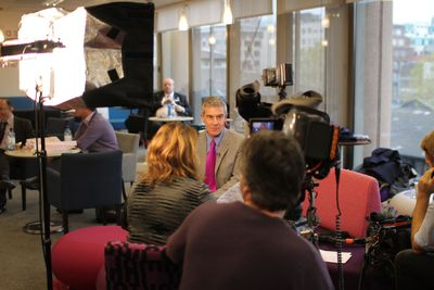 Rick Stern, Chief Executive of the NHS Alliance speaks to ITN Productions at the annual conference and launch of NHS Alliance TV 2013 (PRNewsFoto/ITN Productions)