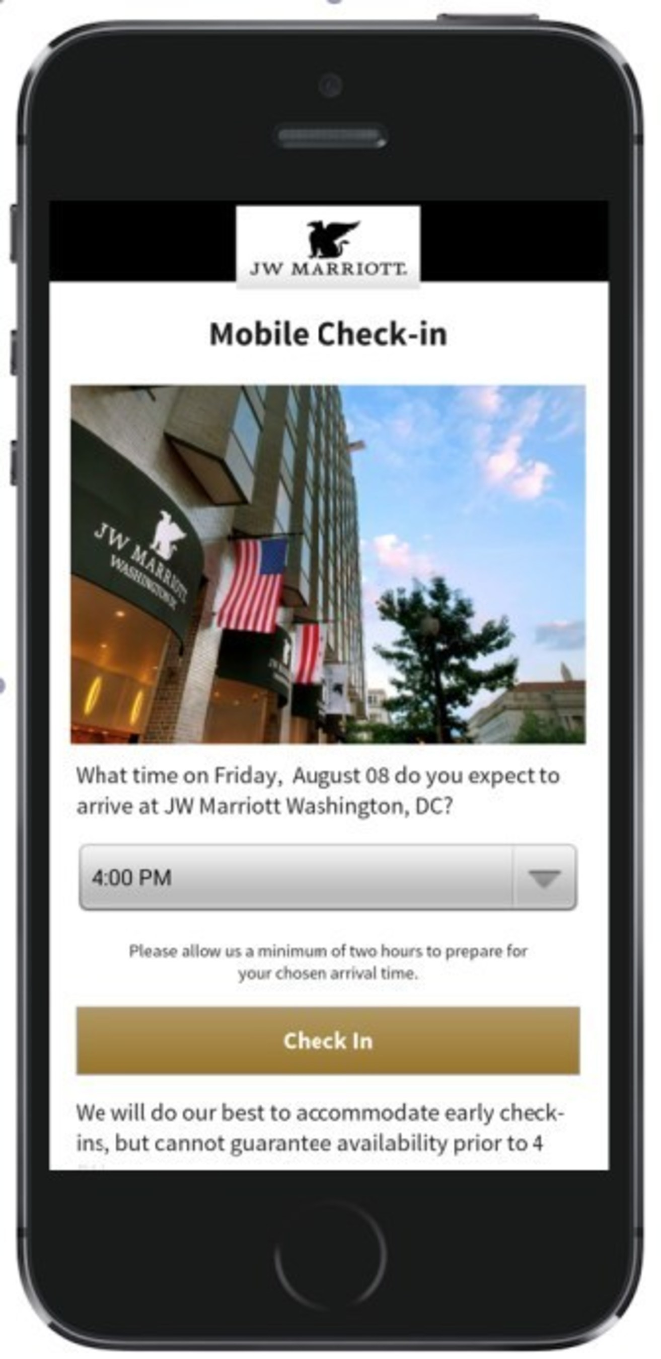 Marriott expands Mobile Check-in and Checkout Services. (PRNewsFoto/Marriott International, Inc.)