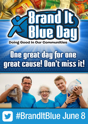 Express Employment Professionals launches Brand It Blue Day on June 8 to fight hunger.