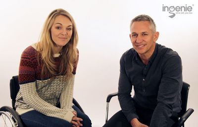 Video: ingenie Ambassador Gary Lineker Interviews Sophie Morgan About the Car Crash That Changed her Life