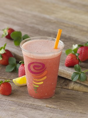 Jamba Juice has introduced a new flavor to its existing Fresh Squeezed Juice Line, Strawberry Juice Refresher: a refreshing blend of fresh apple juice, strawberries, and lemon juice packed with Vitamin C that is also gluten and dairy free.