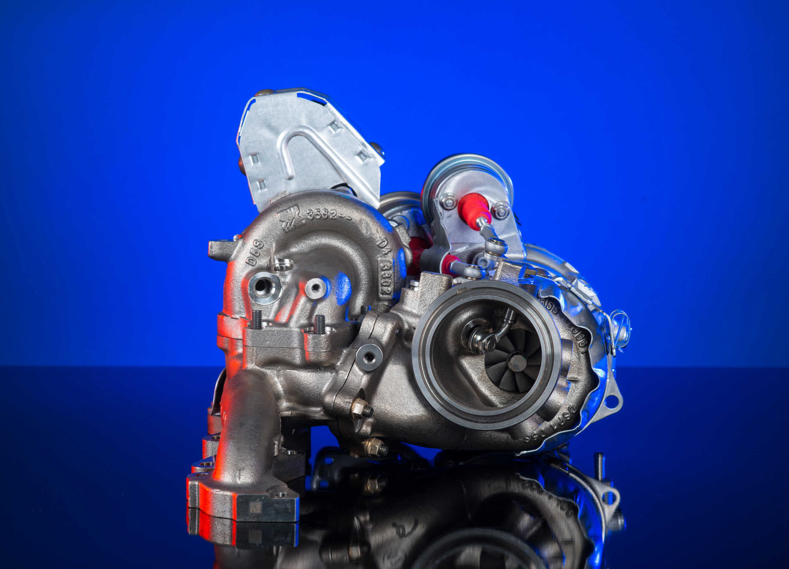 BorgWarner provides its award-winning regulated two-stage (R2S(R)) turbocharging technology for Volkswagen's new high performance diesel engine. Engineered to comply with the Euro 6 emissions standard, the 2.0-liter four-cylinder engine is the most powerful diesel engine in its class.