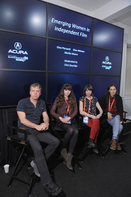 """Emerging Women in Independent Film"" panel.  (PRNewsFoto/Acura)"
