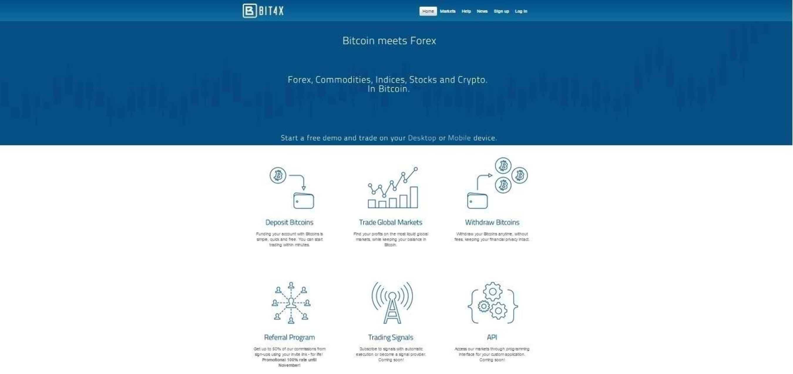 Bitcoin CFD Trading Platform Bit4x Launches New Clients Account Manager and Generous Referral