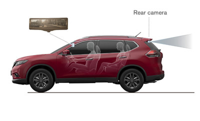 "Nissan debuts ""Smart Rearview Mirror"" on Rogue at New York Auto show; Helps provide clear rearward visibility in various conditions"